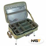 Stolek v kufříku BOX CASE TACKLE BAG WITH BIVVY TABLE